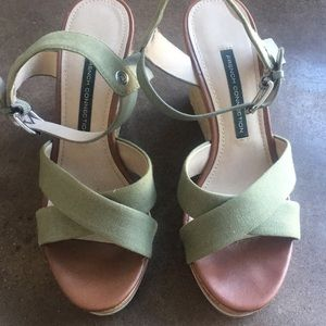 Gorgeous French Connection wedge sandals